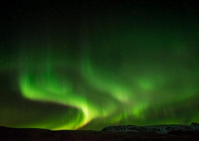 Noorderlicht tijdens een fotoreis naar IJsland. Fotograaf: Toine Westen.