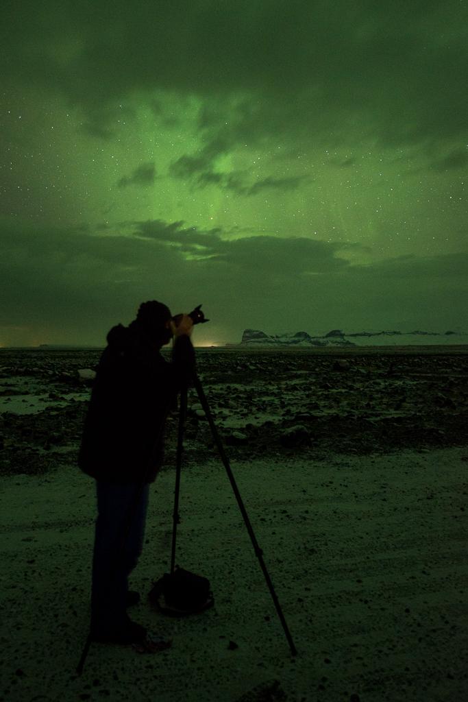 Soms sta je uren lang in de kou om het noorderlicht te fotograferen.