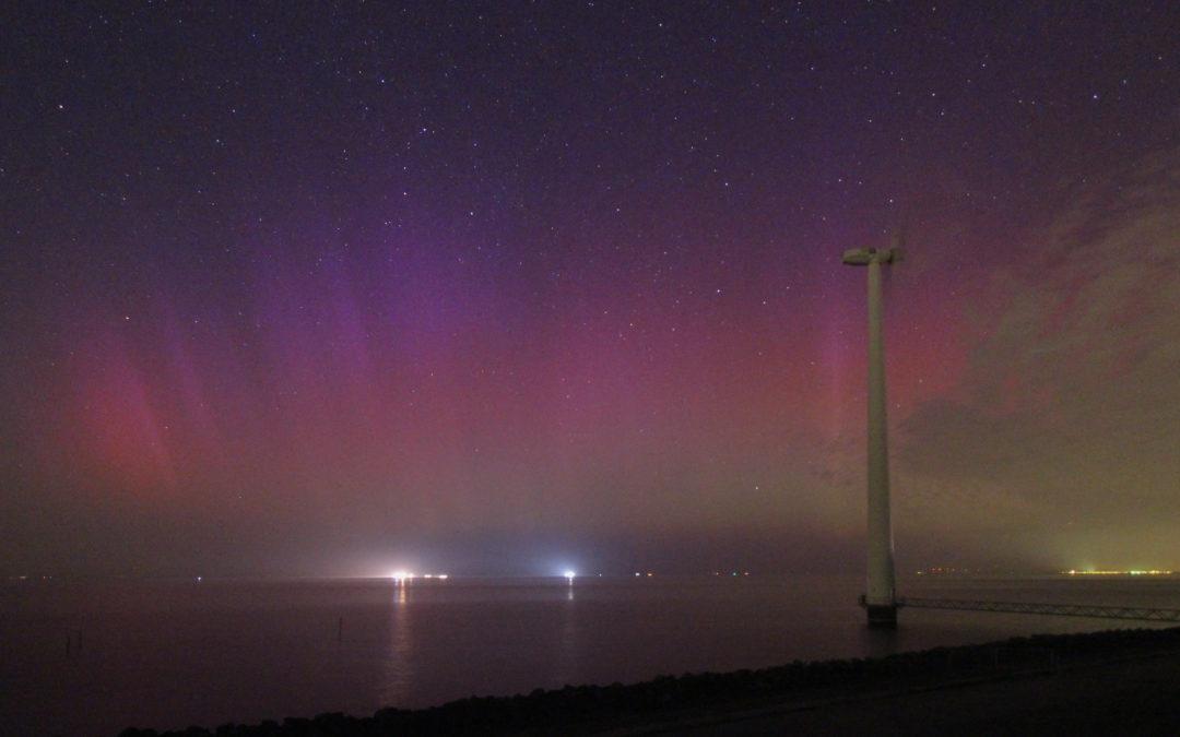Kansje op noorderlicht vannacht in Noord-Nederland. Fotograaf: Roy Keeris